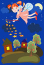 Free Night Background With  Fairy Stock Image - 16458741