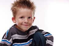 Free Cute Young Boy Smiling At The Viewer Stock Image - 16450141