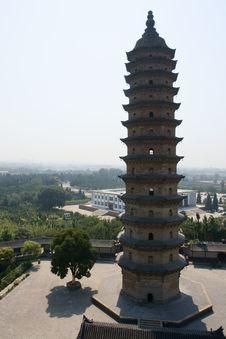 Free Twin Pagoda Royalty Free Stock Photo - 16450285