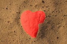 Free Heart Shape In Sand Royalty Free Stock Image - 16450376