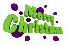 Free Merry Christmas Greeting Card Stock Photo - 16450440
