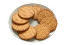 Cookies On A Plate Stock Image