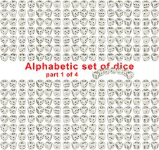 Free Alphabet Dice. Part 1 Of 4 Royalty Free Stock Image - 16451296