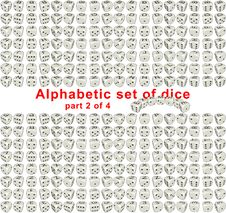 Free Alphabet Dice. Part 2 Of 4 Stock Photography - 16451302