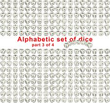 Free Alphabet Dice. Part 3 Of 4 Royalty Free Stock Photography - 16451347