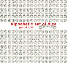 Alphabet Dice. Part 4 Of 4 Royalty Free Stock Images