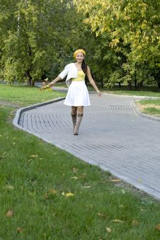 Free Girl In Autumn Park Stock Photo - 16453040