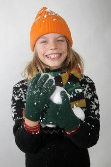 Boy Winter Royalty Free Stock Photography