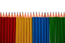 Free Pencils Isolated On White Background Royalty Free Stock Image - 16454246