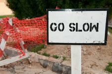 Free Go Slow! Stock Photography - 16454762