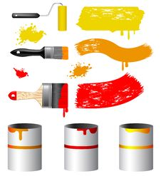 Free Paint Tools Collection Stock Photos - 16455033