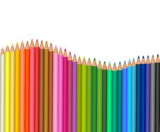Free Colored Pencils. Stock Image - 16455121
