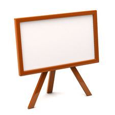 Free Orange Easel With Blank Canvas Stock Photos - 16455213