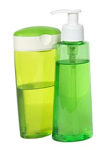 Free Two Green Plastic Bottles Stock Image - 16455521