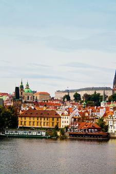 Panoramic Of Prague Stock Photos
