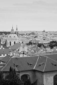 Panoramic Of Prague Royalty Free Stock Image