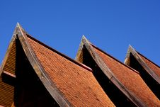 Free Three Orange Tile Roof Royalty Free Stock Photography - 16455907