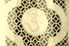 Marble Sculpture Of Symbol Aum