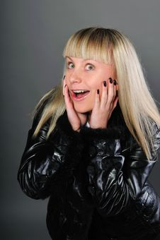 Free Portrait Of A Surprised Girl In A Jacket Royalty Free Stock Photos - 16457088