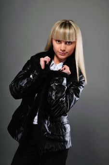 Free Portrait Of The Girl In A Jacket Stock Images - 16457164