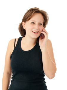 Free Woman Talking On Her Mobile Phone Royalty Free Stock Photo - 16457165