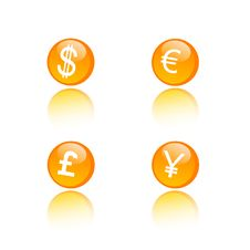 Vector Set Of Different Money Icons Stock Photography