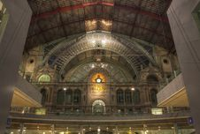 Free Dome Of Antwerp Station Royalty Free Stock Photography - 16458087