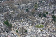 Free Paris Cemetery Aerial View Stock Photography - 16458242
