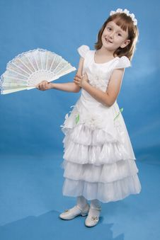Free Little Girl Holding Fan. Stock Photos - 16458263