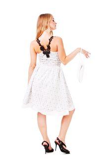 Free Alluring Girl In White Dress Stock Image - 16458521