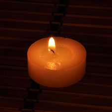 Free A Conflagrant Candle Is In Darkness Stock Photo - 16458610