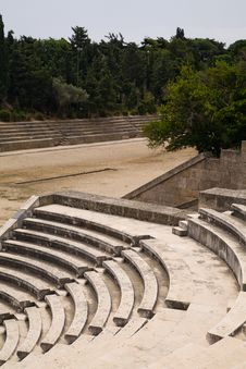 Free Ancient Greek Sports Stadium And Theatre Royalty Free Stock Photography - 16458707