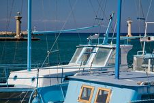 Free Greek Boats Royalty Free Stock Photos - 16458738