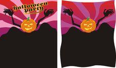 Halloween Poster Stock Photo