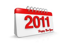 Free Simple Style 2011 Calendar Stock Photo - 16459400