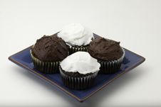Free Chocolate Cupcakes With Icing Stock Image - 16459481