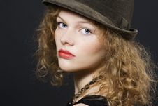Free Young Woman With Hat Royalty Free Stock Photo - 16459735