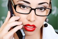 Free Talking On A Phone Royalty Free Stock Images - 16459889
