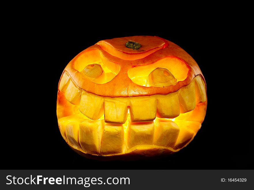 Orange smiling pumpkin