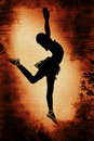 Free Dancer Over Grunge Background Royalty Free Stock Photography - 16461817