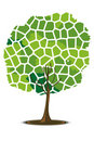 Free Mosaic Pattern Tree Stock Image - 16467011