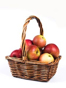 Free Basket Full Of Apples Royalty Free Stock Photos - 16460348