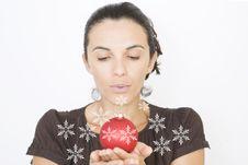 Free Christmas Woman Stock Photo - 16460510