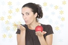 Free Christmas Woman Royalty Free Stock Photography - 16460557