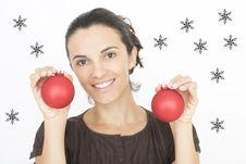 Free Christmas Woman Stock Photography - 16460672