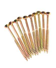 Free Group Of Shiny Brass Screw Stock Photos - 16461273