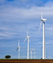 Free Wind Generation On The Texas Prairie Royalty Free Stock Images - 16461519