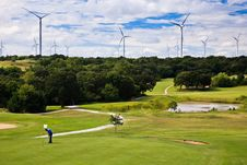Free Wind Generation On The Sky Line And Golf Course Stock Photography - 16461532