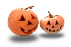 Free Funny Halloween Pumpkins Royalty Free Stock Image - 16461656