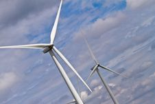 Free Wind Generators And Clouds Royalty Free Stock Photo - 16461715